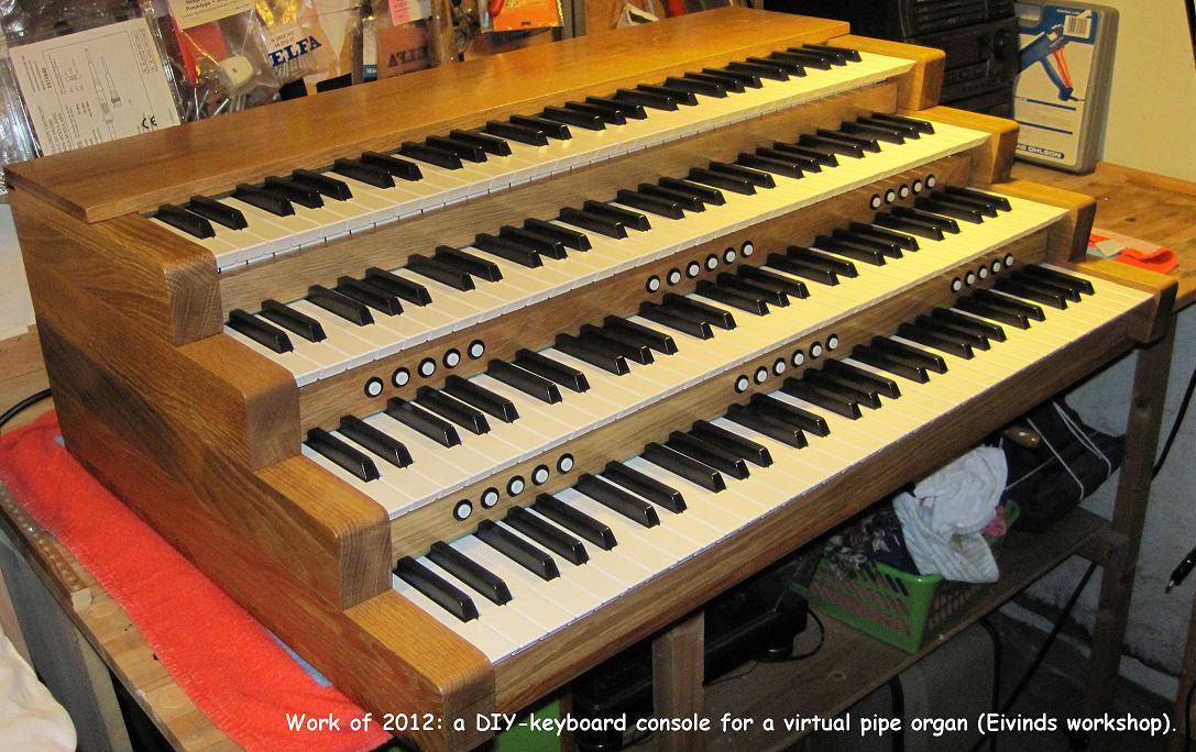 Building an organ console - DIY project